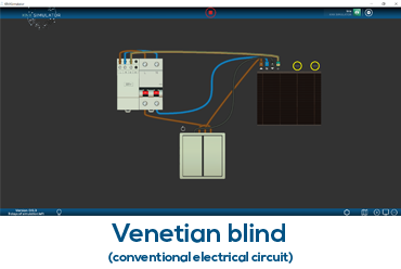 Venetian blind (conventional electrical circuit)